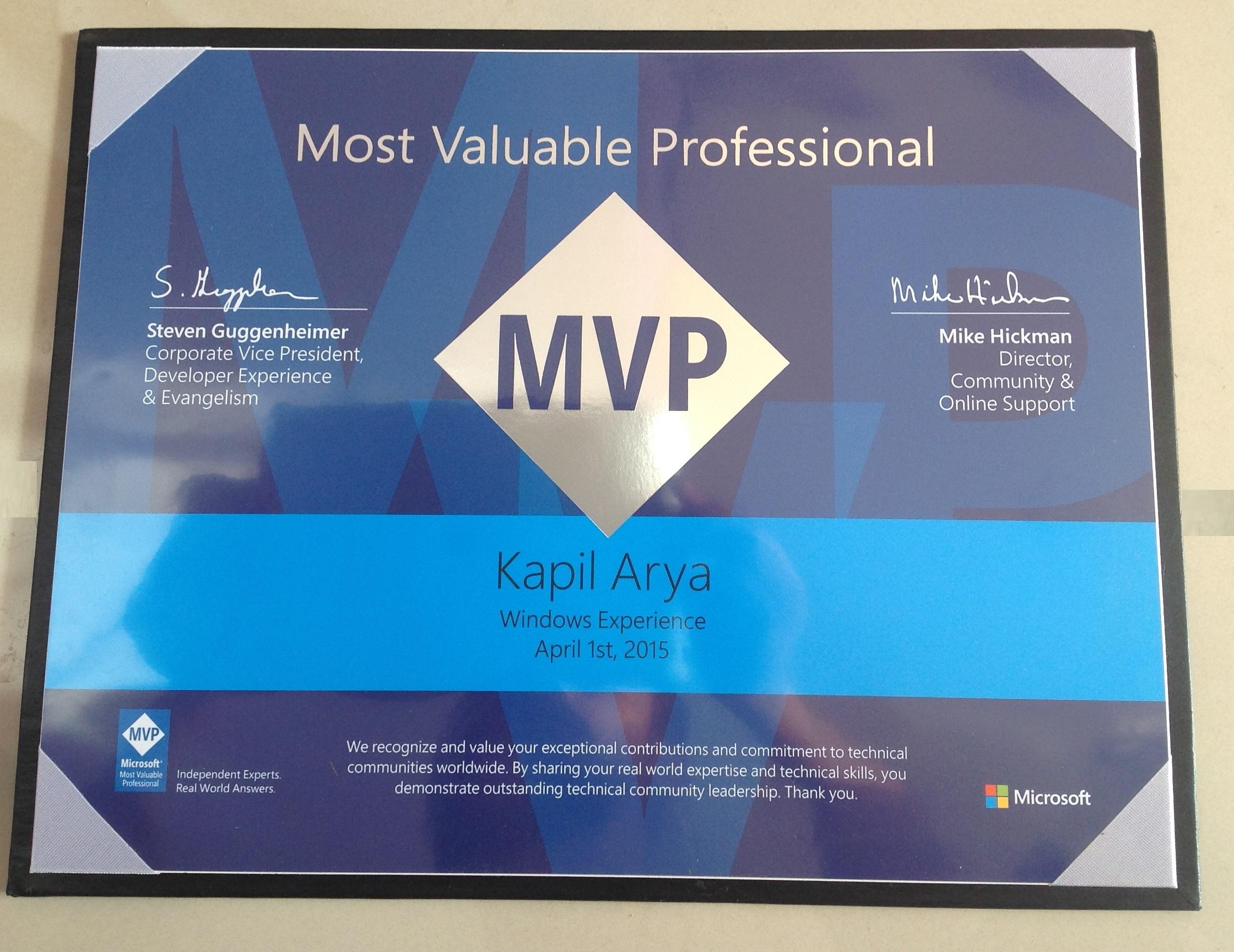 MVP Certification 2015