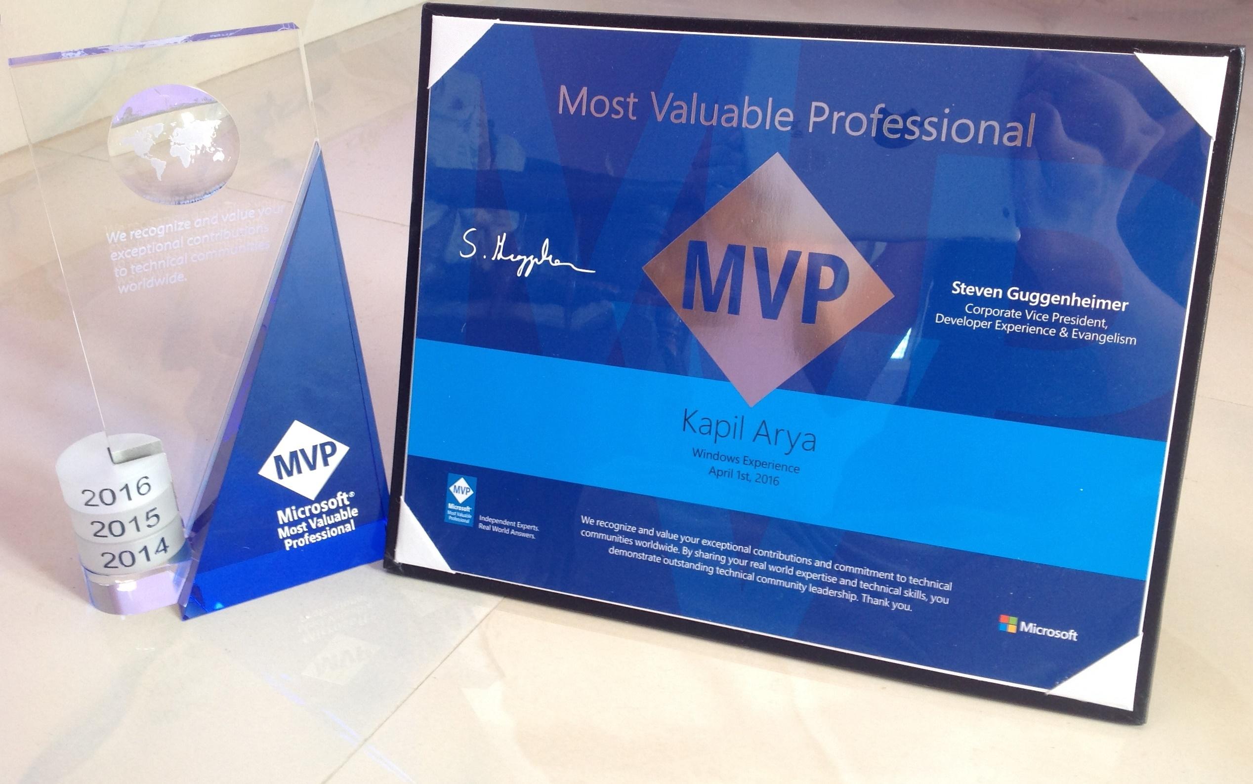 MVP Certification 2016